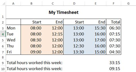 time calculator work hours