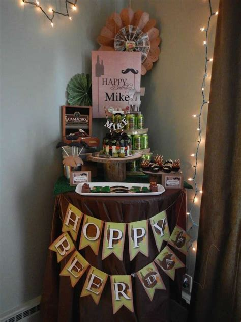 beer themed events beer and mustache birthday party ideas photo 1 of 9