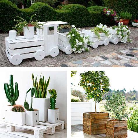 decoracion palets jardin maceteros con palets decoracion jardineras llantas