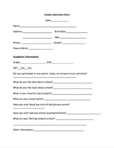 student intake form template intake form school counselor