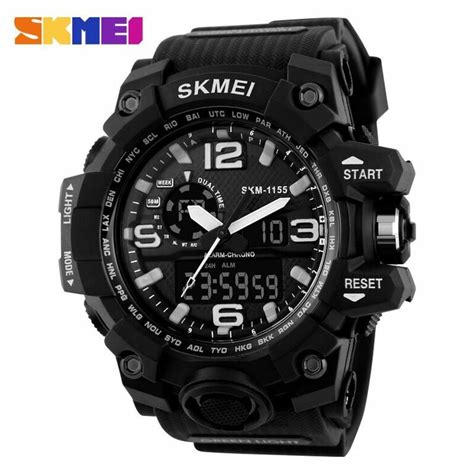 Jam Tangan Original Skmei S Shock Sporty Design Anti Air jual jam tangan pria skmei dual time sport led original ad1155