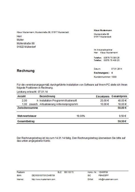 Musterrechnung Schweiz Muster Rechnung Kleinbetrag Bis 150 Erstellt Mit Dem Programm Hth Rechnungen