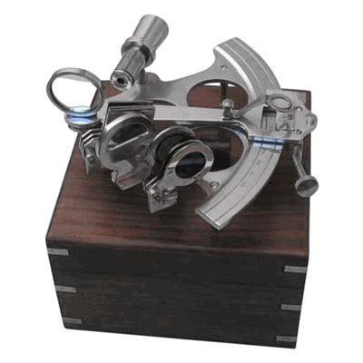 sextant box sextant wooden box aluminum and brass nautical decor