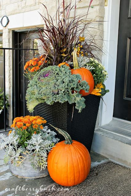 Fall Planter Ideas by Fabulous Fall Porches Tauni Co