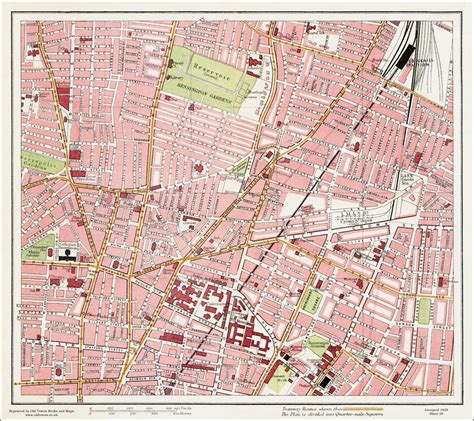 printable street map liverpool an old map of the crown street area liverpool in 1928 as