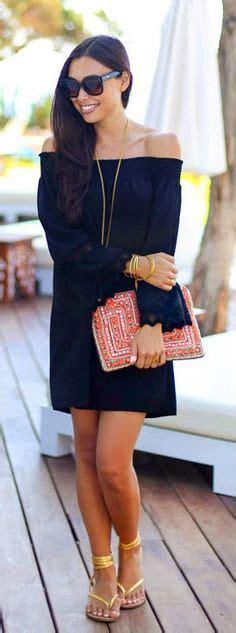 black the shoulder shift dress dany