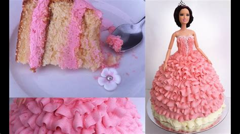 birthday cake princess doll tutorial   cook  ann