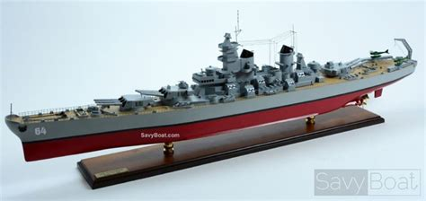 model boats wisconsin uss wisconsin bb 64 hancrafted wooden model boat savyboat