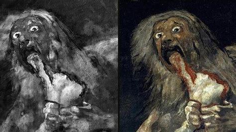 imagenes pinturas negras de goya saturnos devorando a sus hijos rubens goya el