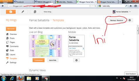 tutorial bahasa xml cara mengganti template blogger farras salsabiila