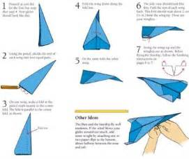 How To Make A Distance Flying Paper Airplane - how to make paper airplanes step by step images