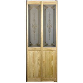 pinecroft  lite solid core pine bifold closet door