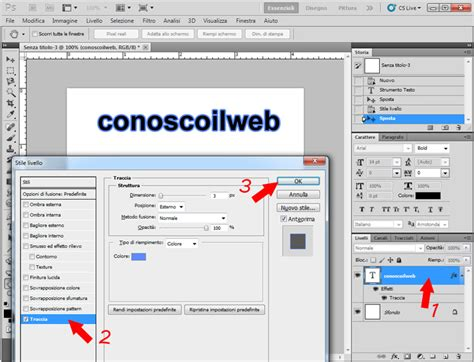 tutorial su come ci si trucca photoshop tutorial contorno al testo