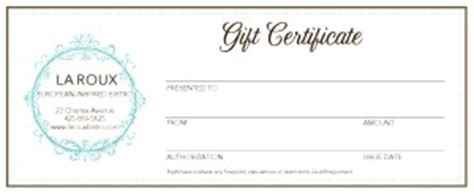food gift certificate template food gift certificate marketing archive