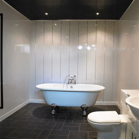 Marble Bathrooms Ideas by White Sparkle Bathroom Cladding Direct