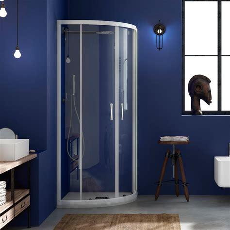 profili per box doccia alluminio box doccia 80x80 semicircolare in cristallo trasparente