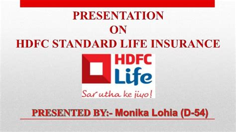 Mba Project Hdfc Standard Insurance by Hdfc