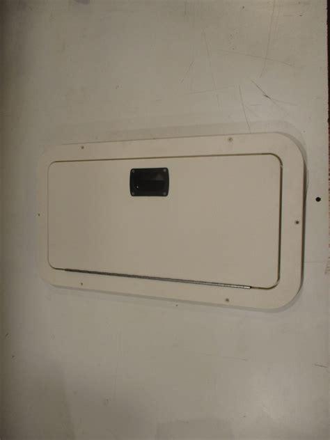 boat hatch door voyager pontoon marine boat white poly access hatch door