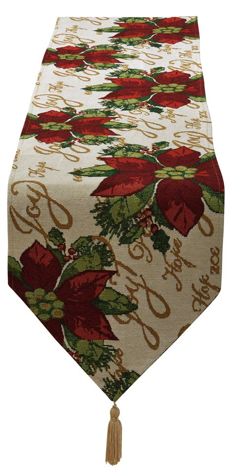 poinsettia design 13 quot x 70 quot table runner