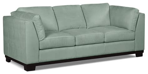 aqua loveseat oakdale microsuede sofa aqua the brick