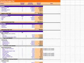 sales and marketing budget template 7 free marketing budget templates marketing au