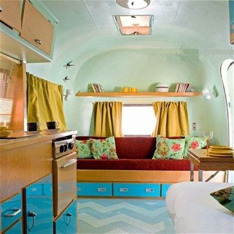 airstream vintage trailers interior open shelving guest rooms and paint