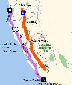 california map hwy 101 map of highway 101 in california california map