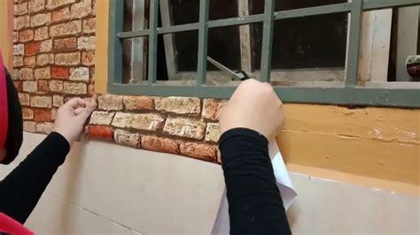 nak pasang glass wallpaper carles