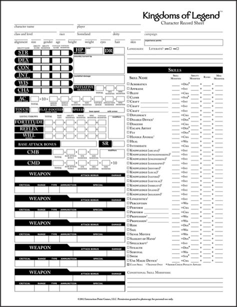 pathfinder templates paizo kingdoms of legend character sheet pfrpg pdf