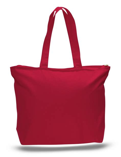canvas zipper tote heavy canvas zipper tote bag with long handles