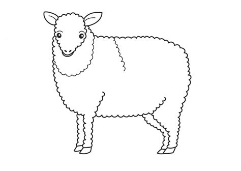 sheep outline coloring page sheep colouring pages for kids