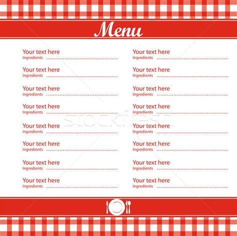 free menu templates 5 best images of free blank printable template restaurant