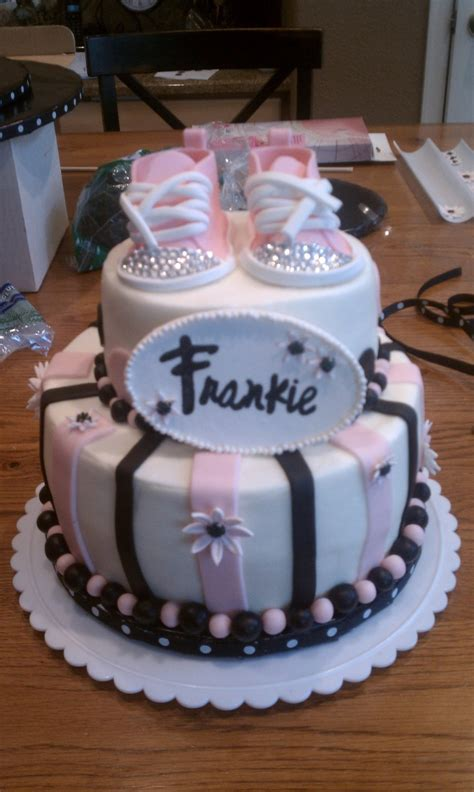 Black And Pink Baby Shower Cakes by Black And Pink Baby Shower Cake Cakecentral