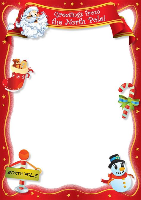 christmas letter border template collection letter