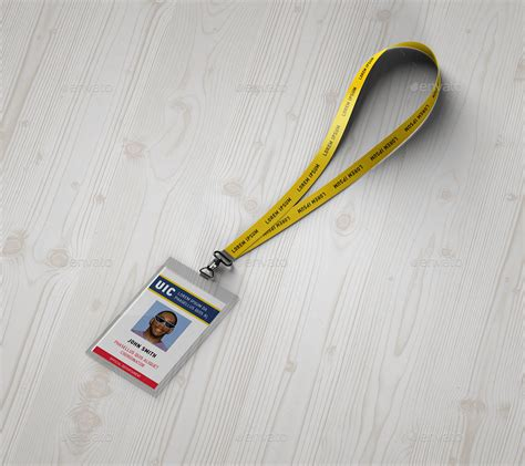 Lanyard Badge Mockup By Ayashi Graphicriver Lanyard Template Psd