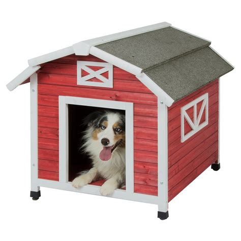 barn style dog house precision pet old red barn dog house dog houses at hayneedle