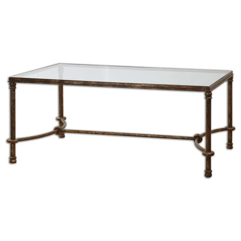 uttermost warring iron coffee table beyond stores