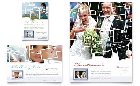 photography advertisement layout photographer flyer ad template design