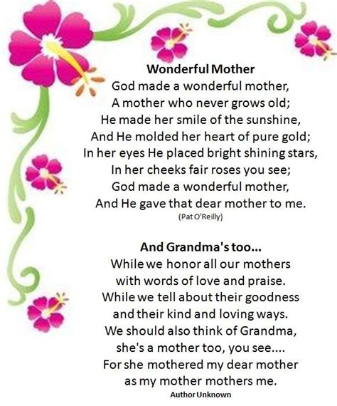 30 touching mothers day poems from
