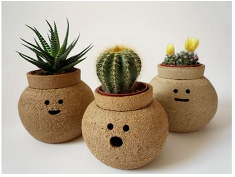 cute pots for plants hairy babes funny ceramics plant pots