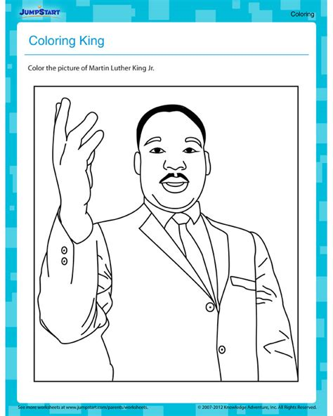 free dr martin luther king coloring pages