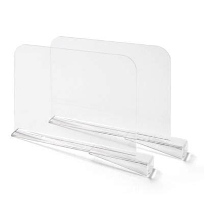 Acrylic Shelf Dividers Pack Of 2 by Buy Shelf Dividers From Bed Bath Beyond