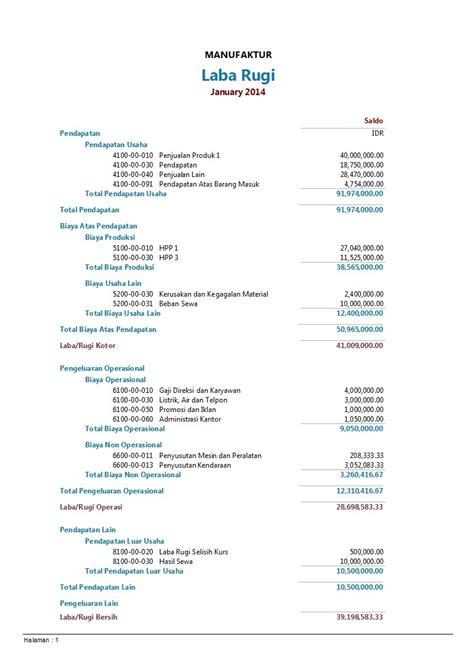 contoh laporan contoh income statement contoh income statement