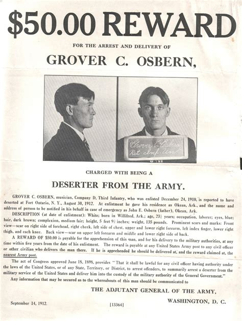 Arkansas Court Records Greene County Arkansas Grover C Osbern Wanted Poster