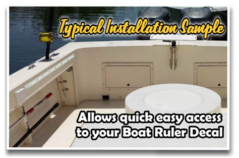installing boat decals boat ruler decals how to install vinyl decals