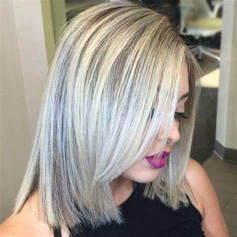 platinum hair with dark highlights for women60 years old 40 hair сolor ideas with white and platinum blonde hair