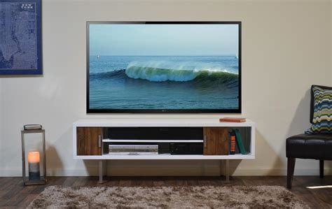 Wall Tv by White And Brown Contemporary Wall Mounted Tv Console With