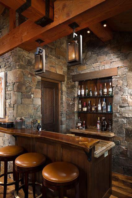 Timber Home Bar Rocky Mountain Homes Mountain Timberframe Rustic Home