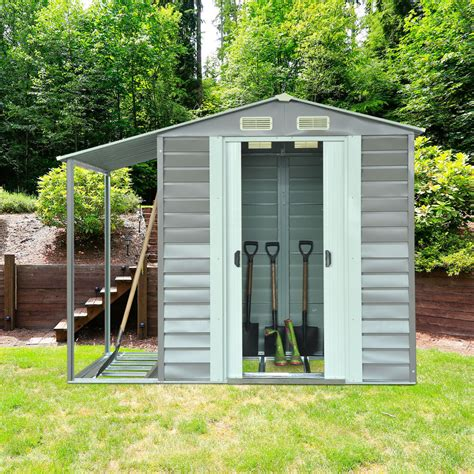 outsunny  garden storage yard tool shed roof gable