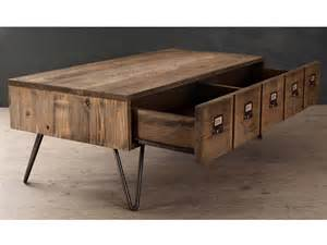table basse en bois et m 233 tal avec 1 tiroir l120 5 cm donna